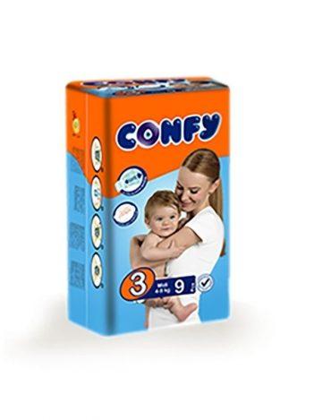 Luiers CONFY Midi maat 3 (20 in doos)