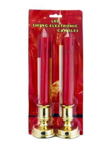 2592 Kaarsen rood ledlicht