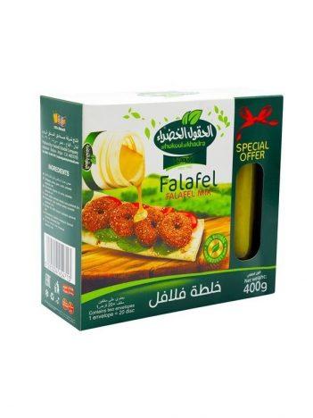 Special *Offer* AL HOKOOL AL KHADRAA Falafel mix 400gr+augurken 250gr x 8st