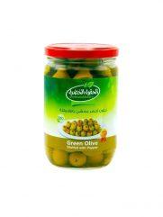 Groene Olijven AL HOKOOL AL KHADRAA met paprika gevuld 600gr x 12st