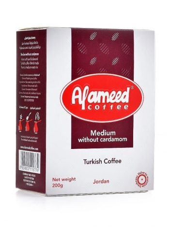 Koffie AL AMEED MEDIUM zonder Kardemom 200gr x24 st