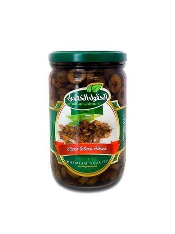 Gesneden zwarte olijven AL HOKOOL AL KHADRAA 600gr x 12st