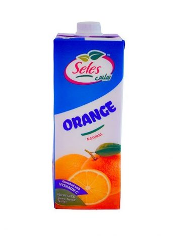 Sap SELES Carton Orange 1000ml x10 st