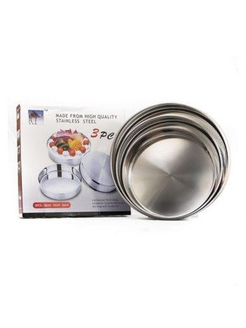 HD-22 Ovenschaal set rond stainless steel