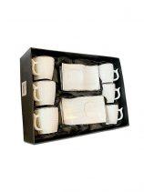 HD-42 Koffiekoppen set 6st wit goud randje