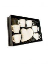 HD-40 Koffiekoppen set 6st wit