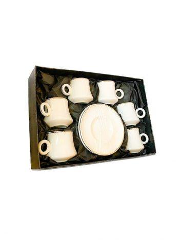 HD-41 Koffiekoppen set 6st wit goud randje
