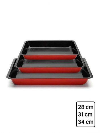 HD-69 Ovenschalen set rechthoek 28/31/34cm