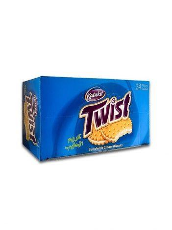 Koekjes TWIST melk ( 24 stuk ) x 6st