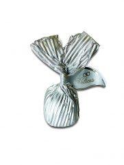 1028 Chocolade Balletjes met hazelnootpasta gevuld zilver 5KG