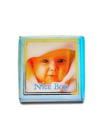 901 Chocolade Vierkant Baby Blauw 5KG