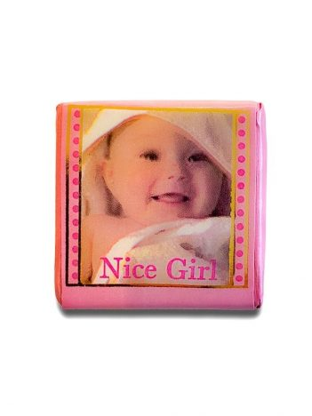 901 Chocolade Vierkant Baby Roze 5KG