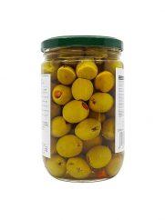 Groene olijven LARA LB gevuld met wortel 375g x 12st