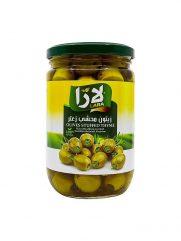 Groene olijven LARA LB gevuld met tijm 375g x 12st