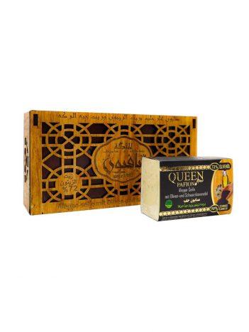 Zeep AL MALIKA Zwarte Zaadolie Houten doos (150g x 3st ) x12st