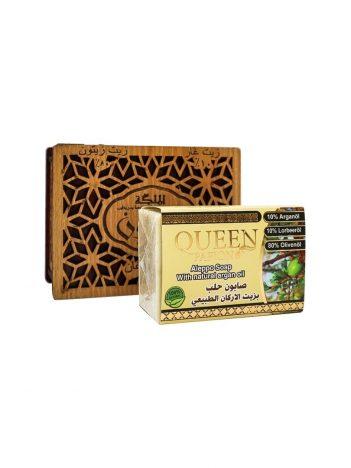 Zeep AL MALIKA arganolie houten doos 150g x 24 st