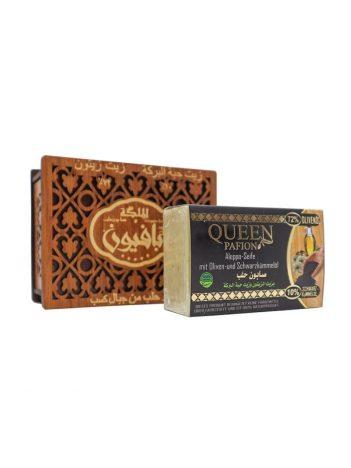 Zeep AL MALIKA Zwarte Zaadolie houten doos 150gr x 24st