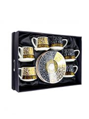 H1-46 coffee cups with dish set of 6