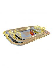 1204AGM stainless steel tray 3 in 1 (H8-5)